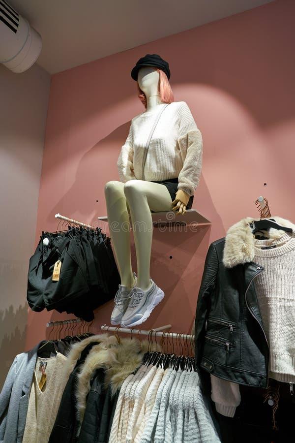 Tally Weijl. ZURICH, SWITZERLAND - CIRCA OCTOBER, 2018: interior shot of Tally Weijl store in Zurich stock photo