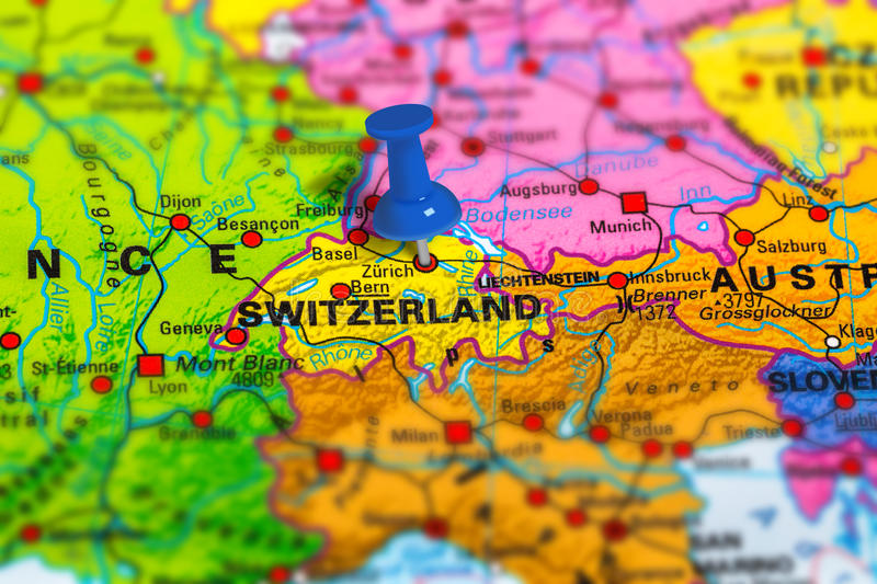 Zurich switzerland map stock photo image of marking 82628710 bern in switzerland pinned on colorful political map of europe geopolitical school atlas tilt shift effect gumiabroncs Images