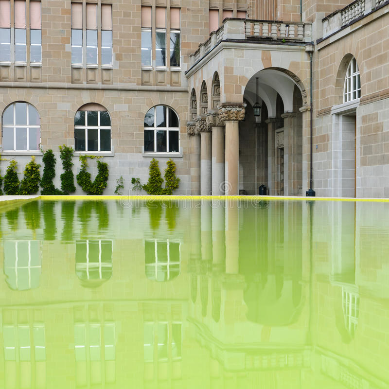 Zurich University reflection - detail royalty free stock images