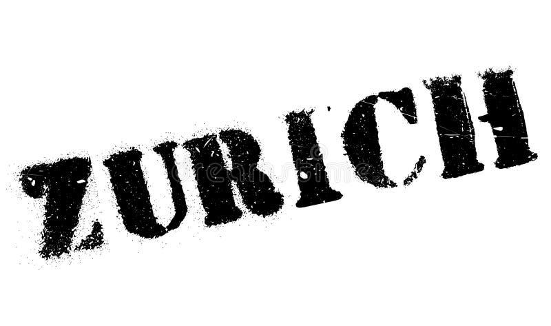 Zurich znaczka gumy grunge royalty ilustracja