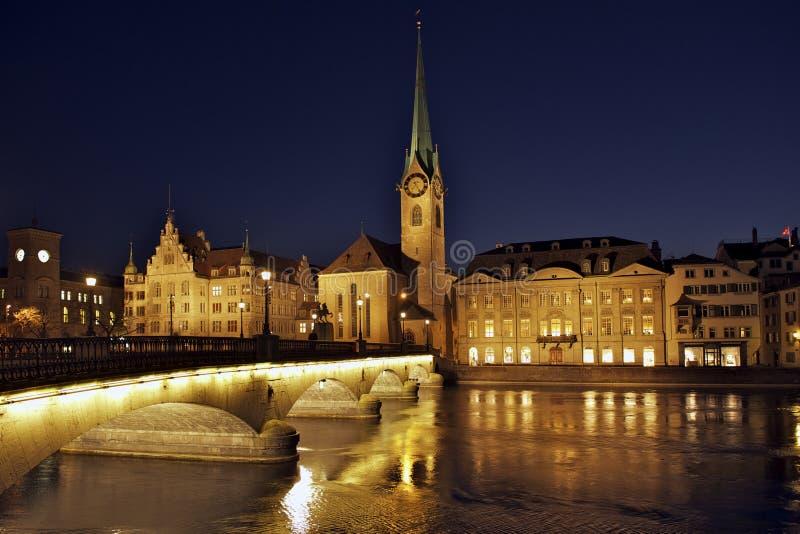 Zurique Fraumunster foto de stock