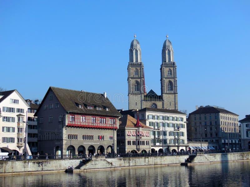 Zurique na mola imagem de stock royalty free