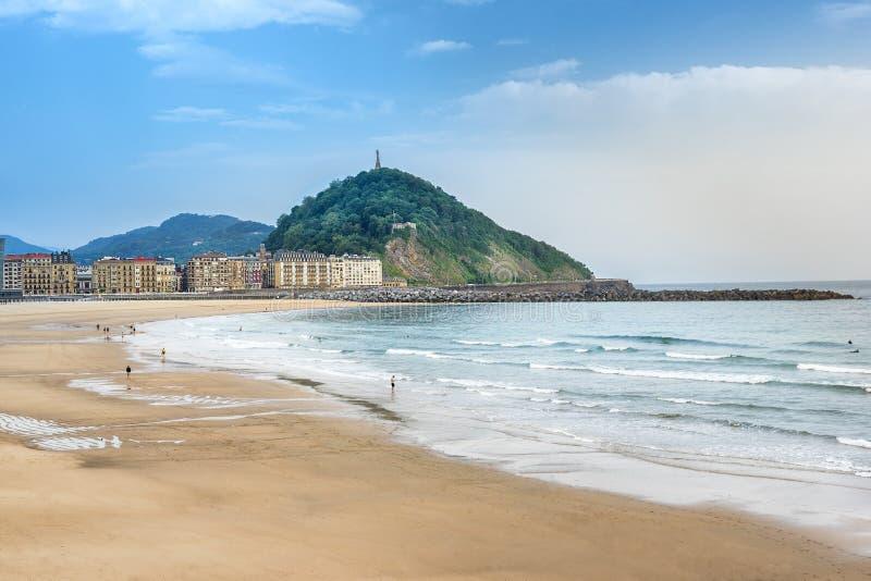Zurriola beach in San Sebastian royalty free stock images