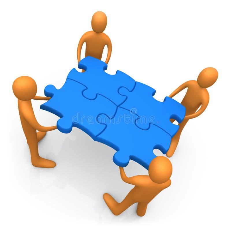 Zusammenarbeiten lizenzfreie abbildung