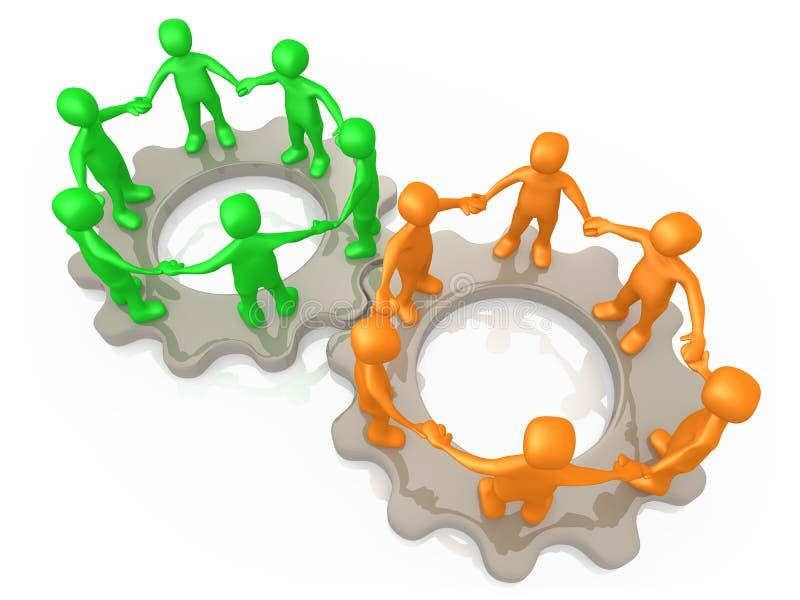 Zusammenarbeitende Teams stock abbildung