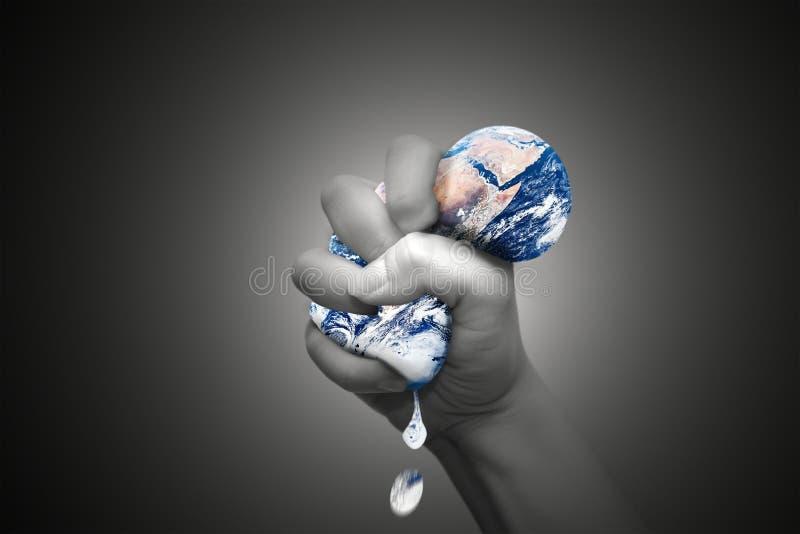 Zusammendrücken der Erde lizenzfreie abbildung