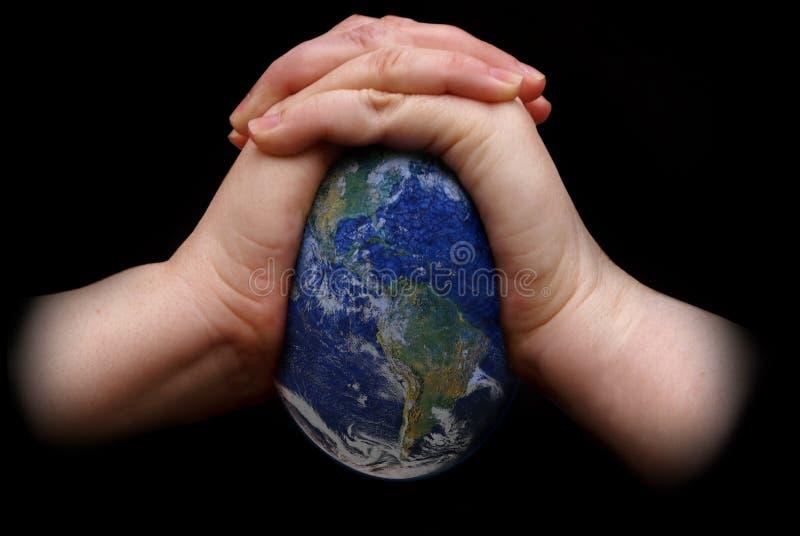 Zusammendrücken der Erde lizenzfreies stockfoto