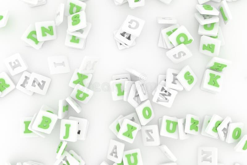 Zusammenfassung, Bündel des Charakterzeichens oder Symbol Tapete f?r Grafikdesign 3d ?bertragen stock abbildung
