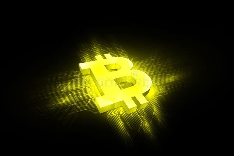 Zusammenfassung bitcoin digitaler Währungshintergrund, futuristisches digitales Geld, Vektorillustrationsentwurf vektor abbildung