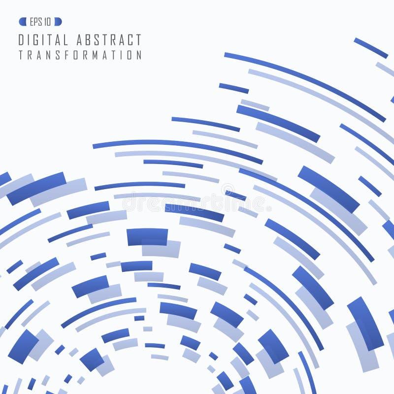Zusammenfassung blaues futuristisches quadratisches Muster der Steigung digitalen tran lizenzfreie abbildung