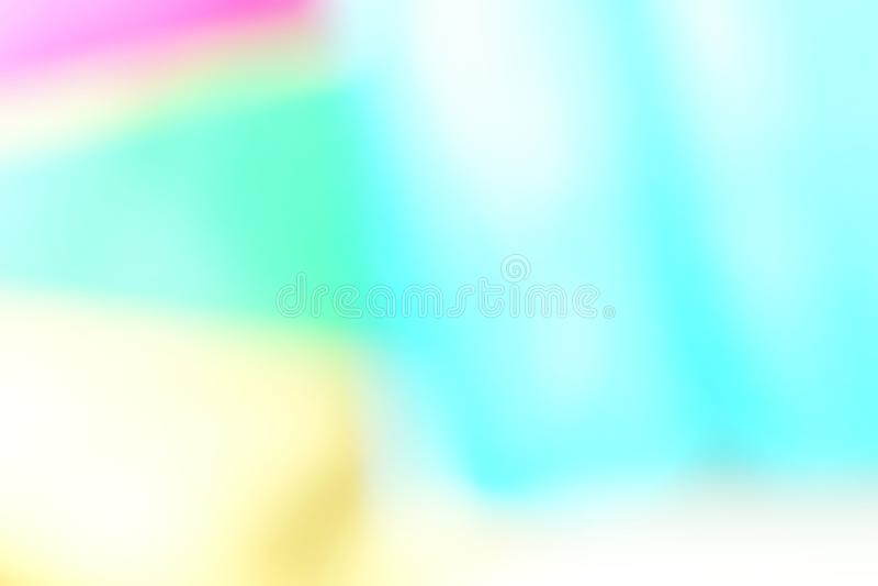 Zusammenfassung blured geometrischer Papierhintergrund des defocused Effektes Neontendenzmodefarben stockbild