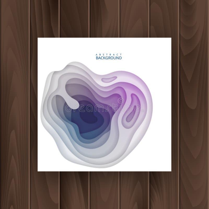 Zusammenfassung, buntes realistisches Papierschnittdesign mit gewellten Schichten, Papier schnitt Hintergrund Abdeckung für Ihr D vektor abbildung