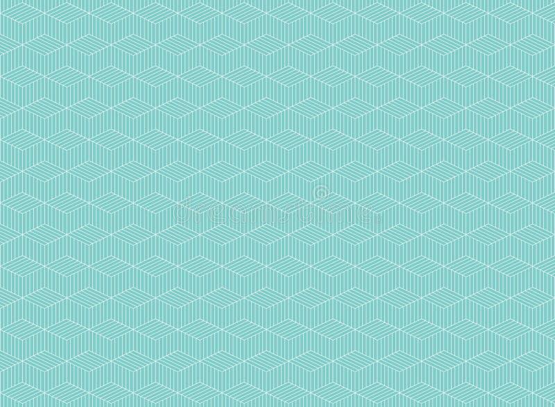 Zusammenfassung der Linie Muster des blauen Streifens des Zickzackhintergrundes OPar lizenzfreie abbildung