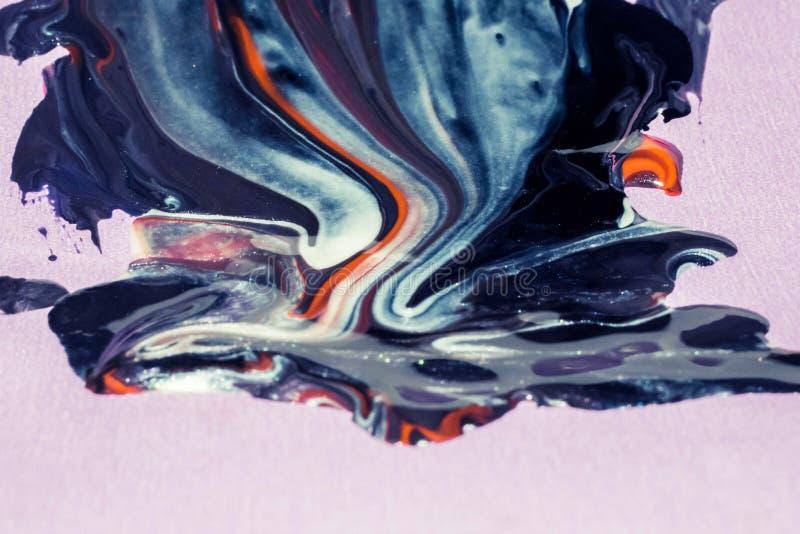Zusammenfassung des Öl-, Wasser- und Acrylfarbenhintergrundes, Tapete lizenzfreie stockfotografie