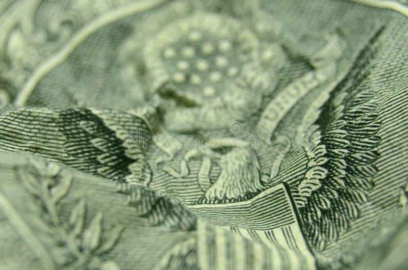 Zusammenfassung des selektiven Fokus von Streifen vom US-Wappen lizenzfreie stockbilder