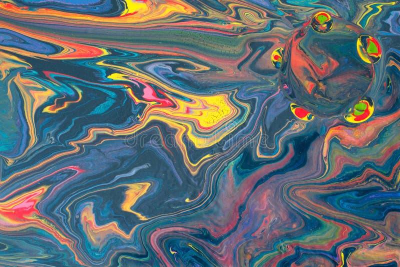 Zusammenfassung, die mehrfarbigen Hintergrund mit bunten Stellen marmort stockfoto