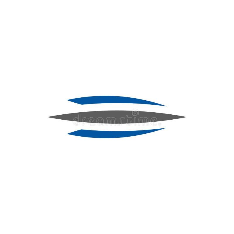 Zusammenfassung drei einfacher Logovektor Swoosh vektor abbildung