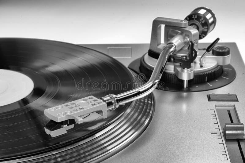 Zusammenfassung eines Vinylrekordspielers lizenzfreies stockfoto