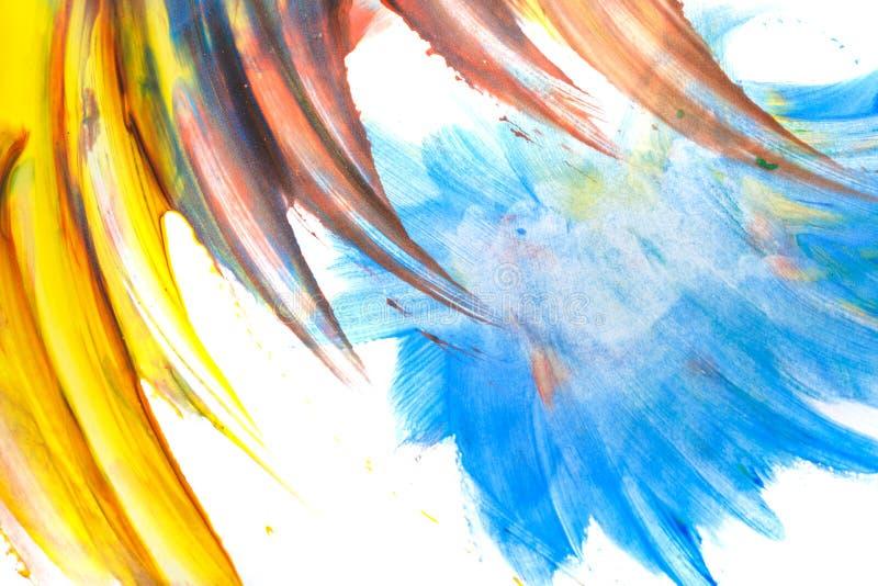 Zusammenfassung farbige Flecke in einer Kinderart stock abbildung