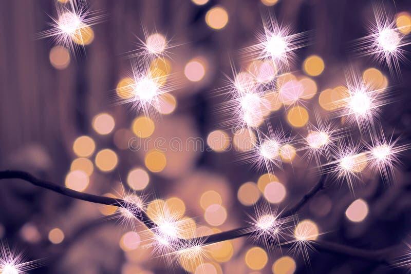 Zusammenfassung funkelte Weihnachtshintergrund lizenzfreie stockbilder