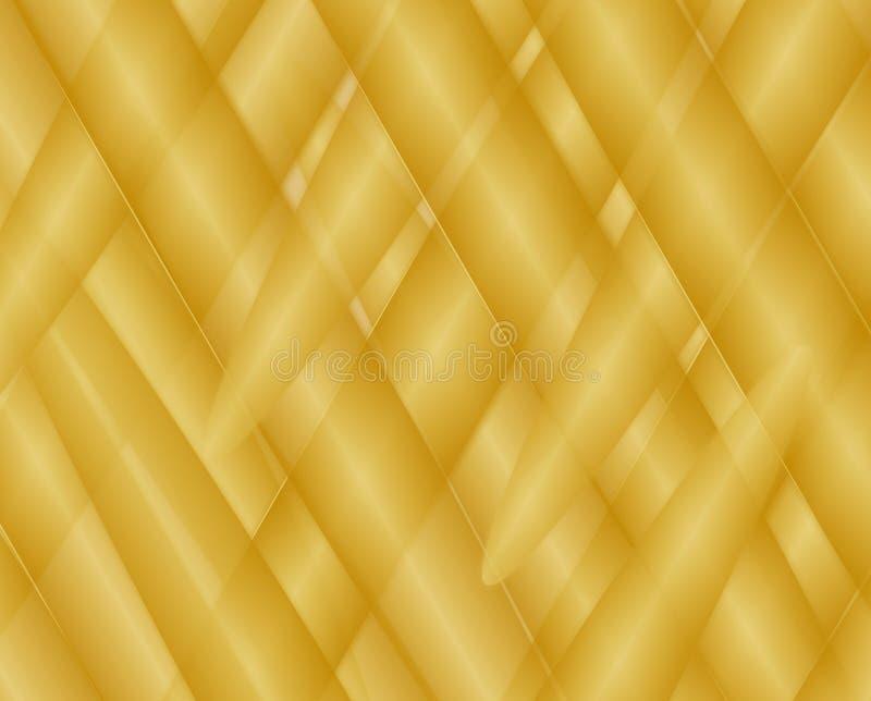 Zusammenfassung gesponnene Zylinder-Hintergrundbeschaffenheit der Steigung goldene vektor abbildung
