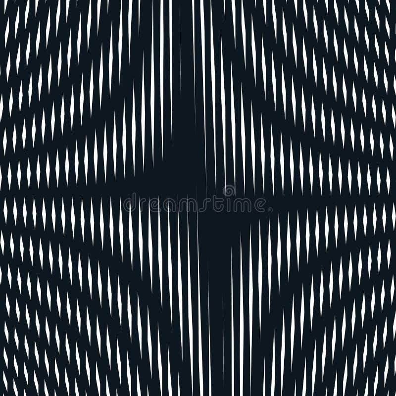Zusammenfassung gezeichneter Hintergrund, Art der optischen Täuschung Chaotische Zeilen vektor abbildung
