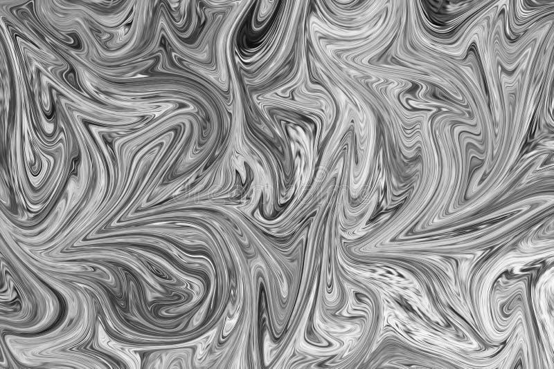 Zusammenfassung Gray Black und weißer Marmortinten-Muster-Hintergrund Verflüssigen Sie abstraktes Muster mit Schwarzem, Weiß, Gre stock abbildung