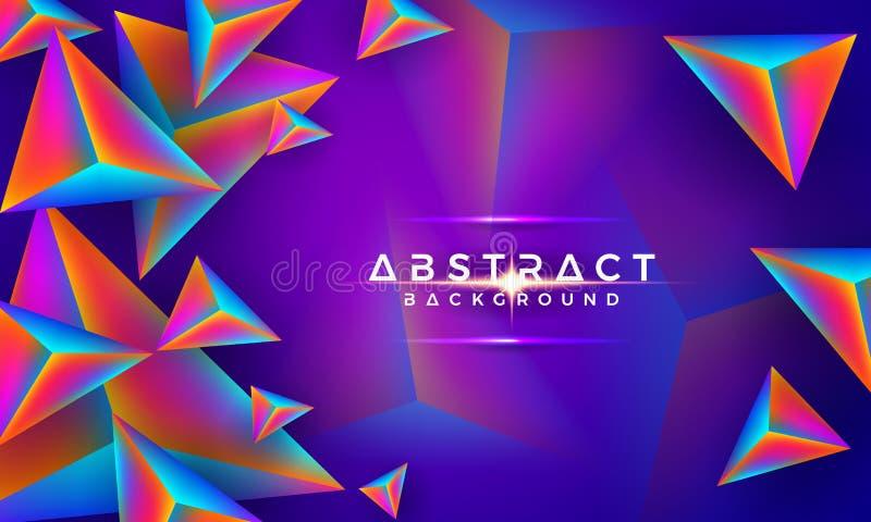 Zusammenfassung, modern, bunter Hintergrund des Dreieck-3D Hintergrund des Vektor Eps10 lizenzfreie abbildung