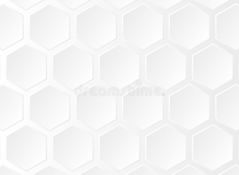 Zusammenfassung Musterbas der futuristischen Steigung des lauten Summens des weißen fünfeckigen stock abbildung