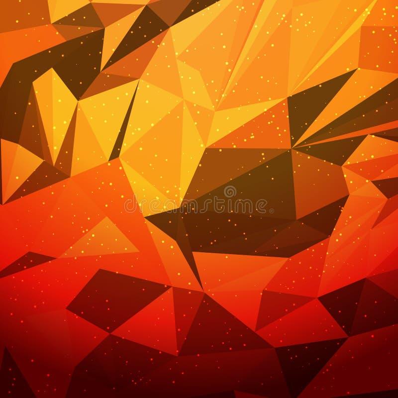 Zusammenfassung orahge geometrisches dreieckiges desing niedriges Polygon lizenzfreie abbildung