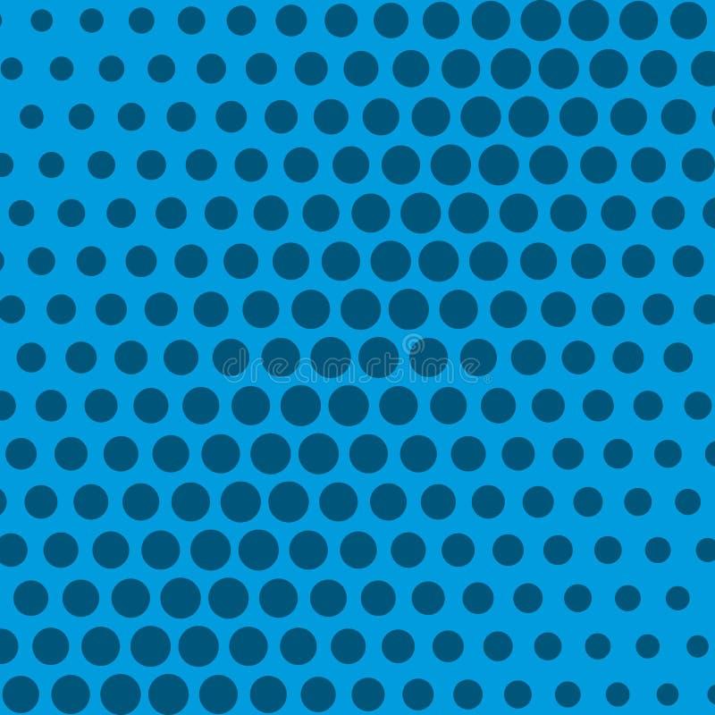 Zusammenfassung punktiert Hintergrund in der blauen Farbe stock abbildung