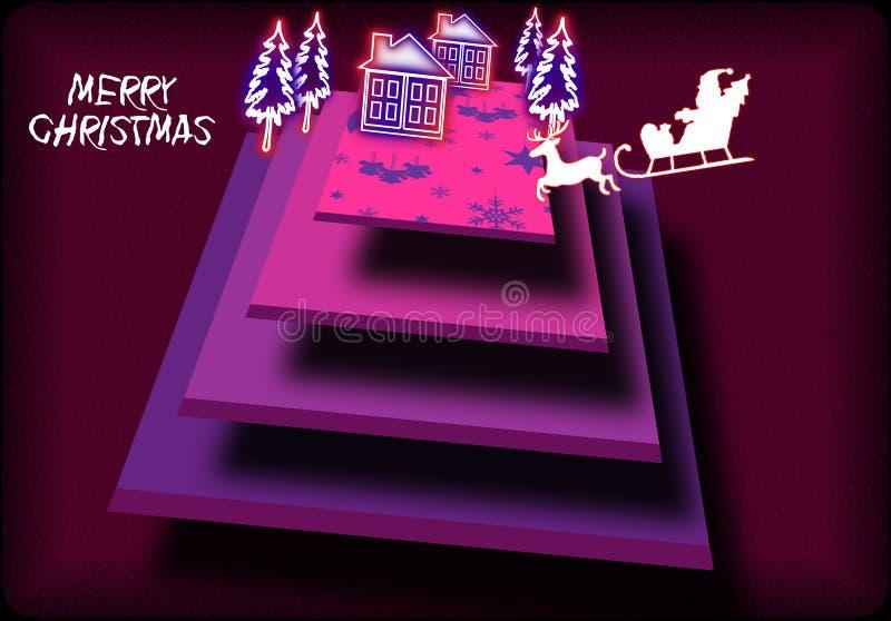 Zusammenfassung schattierte Rechteckillustration der Weihnachtsfeier stockfoto