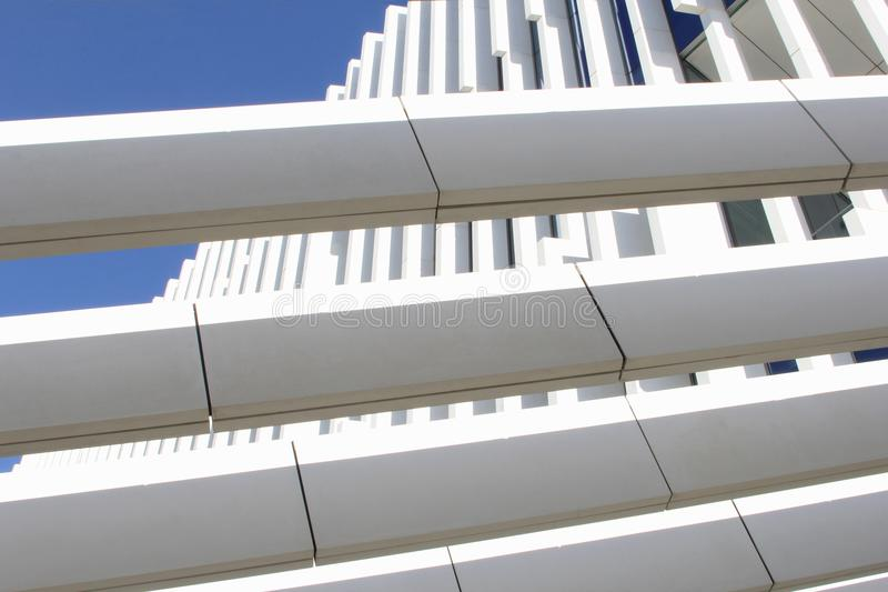 Zusammenfassung strukturiert errichtende EDV-Hauptsitze, Lissabon, Portugal lizenzfreie stockbilder