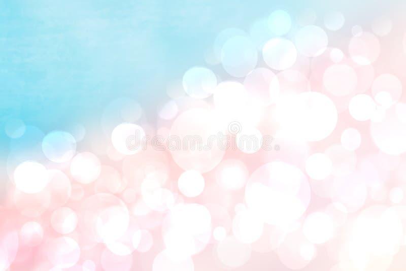 Zusammenfassung unscharfe Hintergrundpastellbeschaffenheit bokeh klare Steigung des Frühlingssommers helle empfindliche rosa blau vektor abbildung