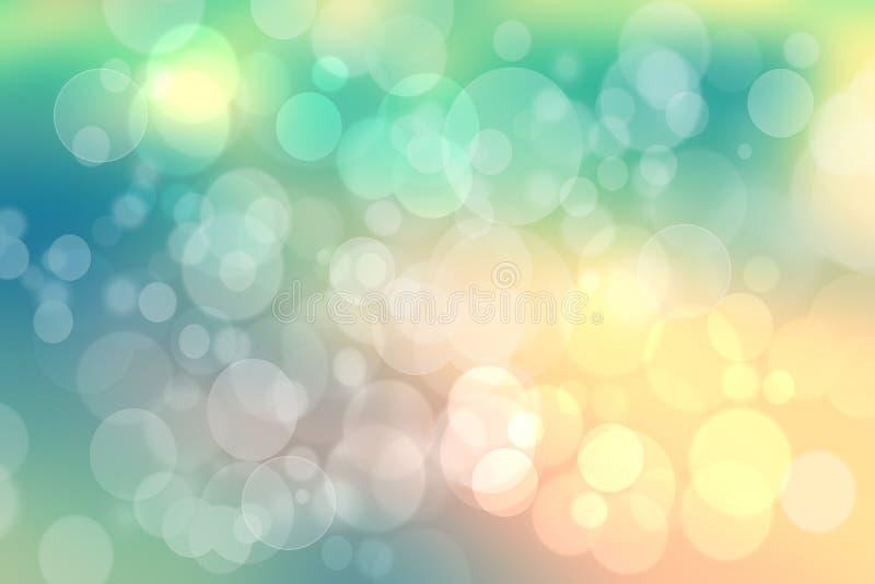 Zusammenfassung unscharfe Hintergrundpastellbeschaffenheit bokeh Türkis des neuen klaren Frühlingssommers helle empfindliche gelb lizenzfreie abbildung