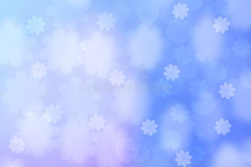 Zusammenfassung unscharfe klarer Fr?hlingssommer helle empfindliche blaue rosa bokeh Hintergrundpastellbeschaffenheit mit heller  lizenzfreie abbildung