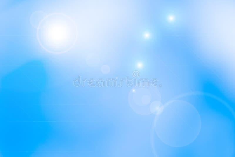 Zusammenfassung unscharfer Sonnenlicht-Himmelhintergrund stockfoto
