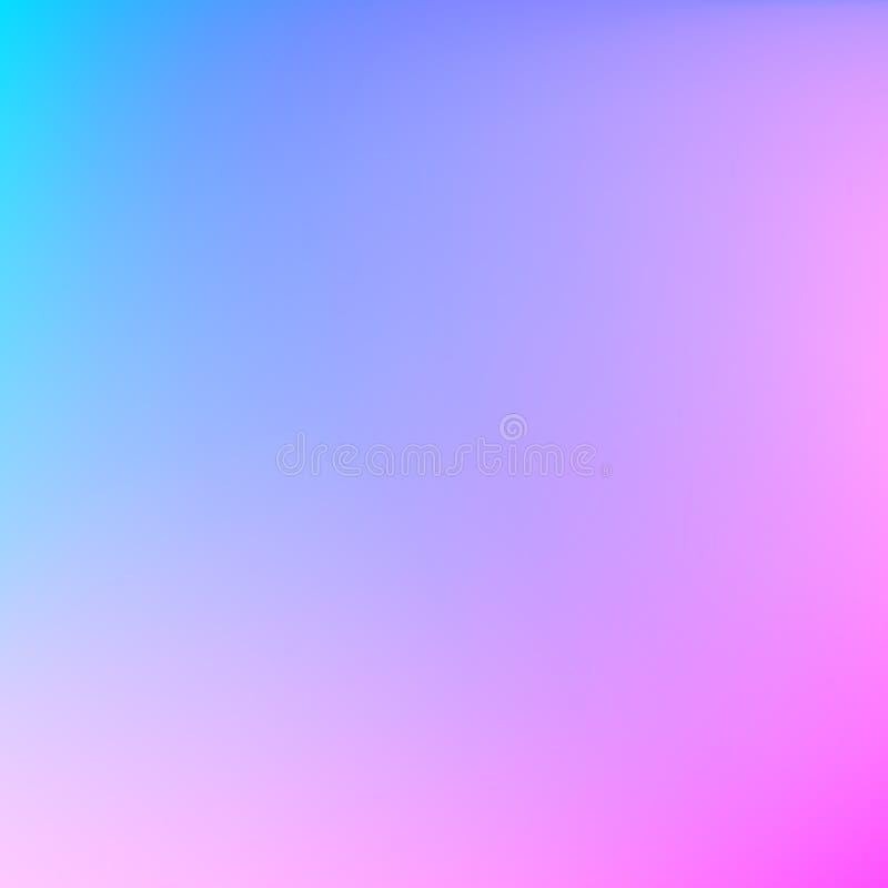 Zusammenfassung unscharfer Steigungsmaschenhintergrund Blaue und purpurrote Mischungspastellillustration Bunter glatter Fahnenhin vektor abbildung
