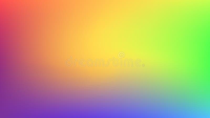 Zusammenfassung unscharfer Steigungsmaschenhintergrund Bunter glatter Fahnenhintergrund Helle Regenbogenfarben mischen Illustrati stock abbildung