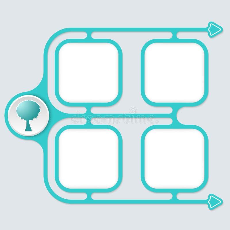 Zusammenfassung verbundene Rahmen vektor abbildung