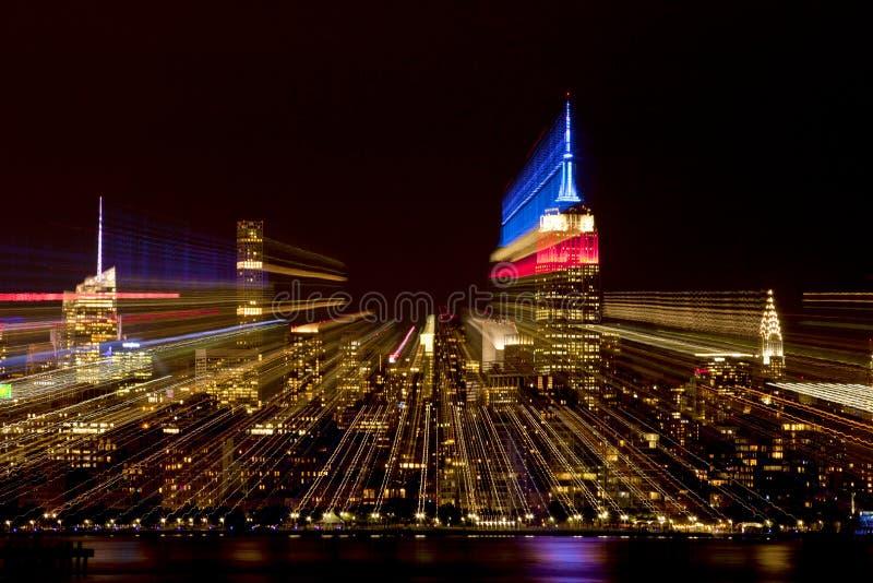 Zusammenfassung von New- York Cityskylinen stockbild
