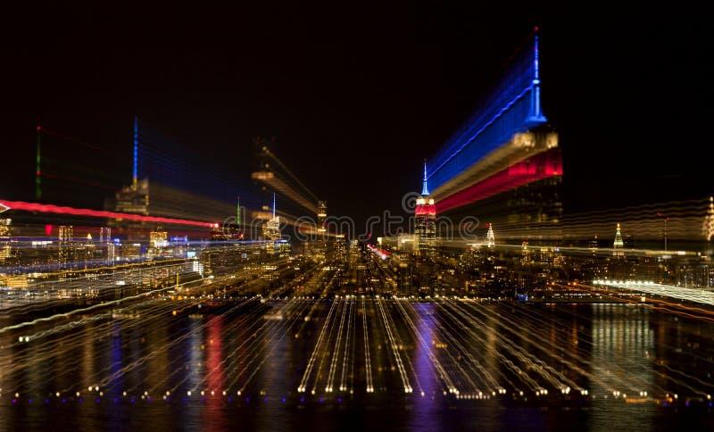 Zusammenfassung von New- York Cityskylinen lizenzfreie stockfotos