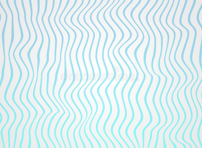 Zusammenfassung von Steigungsseeblauen Linien bewegen in Muster, weich Weiß der rauen Oberfläche wellenartig vektor abbildung