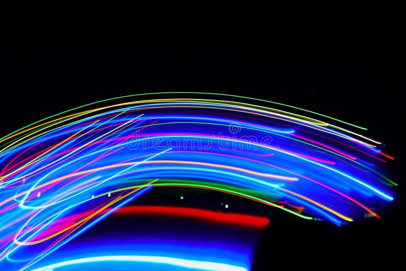 Zusammenfassung von undeutlichem buntem von Lichtern der Bewegungen LED vektor abbildung