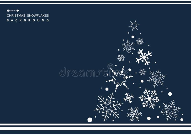 Zusammenfassung Weihnachtsdes einfachen blauen Farbhintergrundes mit weißem Sn lizenzfreie abbildung