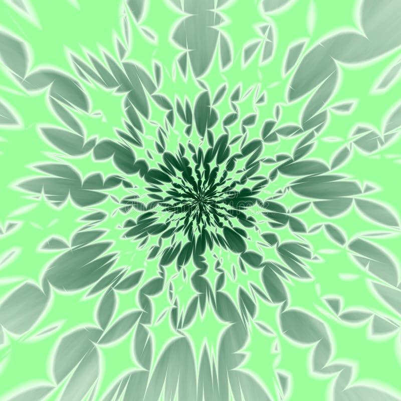 Zusammenfassung zentralisierter grünlicher Hintergrund vektor abbildung