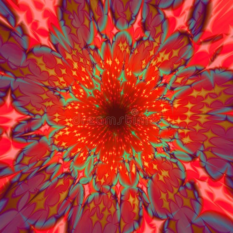 Zusammenfassung zentralisierter rötlicher Hintergrund stock abbildung