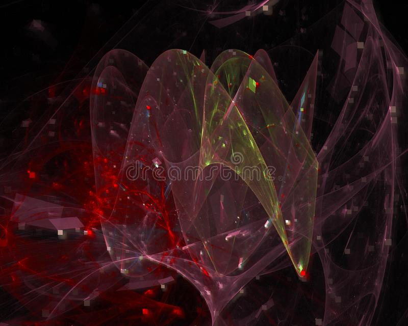 Zusammenfassung zukünftiger digitaler Fractal, Rahmendekorationsflussplakatgeheimnisentwurfs-Fantasiehintergrund, lizenzfreie stockfotografie