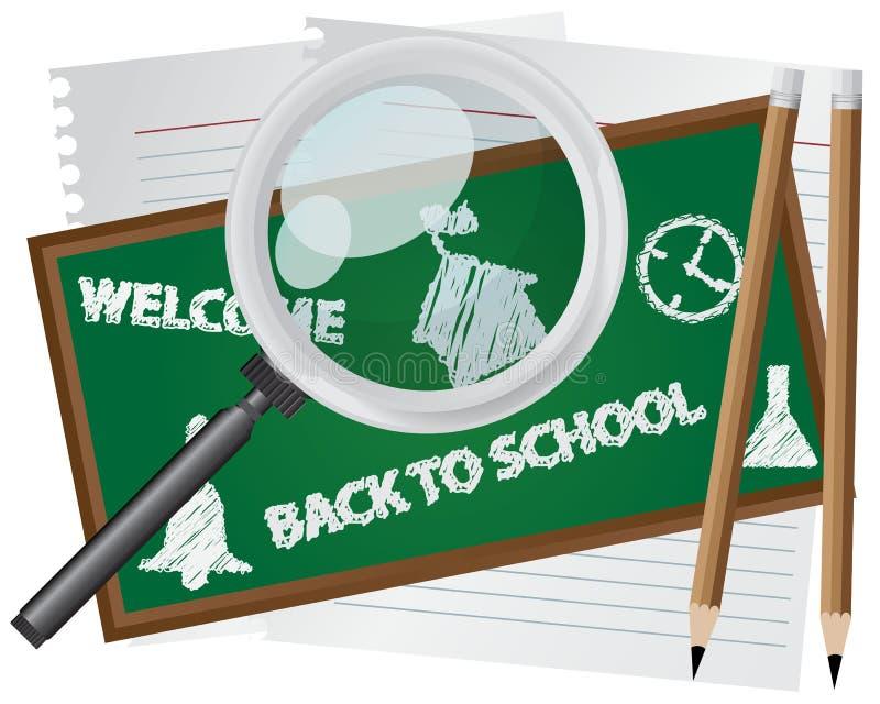 Zusammenfassung zurück zu Schule lizenzfreie abbildung