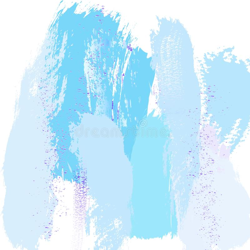 Zusammenfassungs-blaue modische Marmorierungbeschaffenheit mit violetter Funkelnspritzendekoration Modischer schicker Hintergrund vektor abbildung